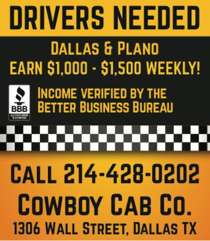 Taxi Cab Drivers Needed