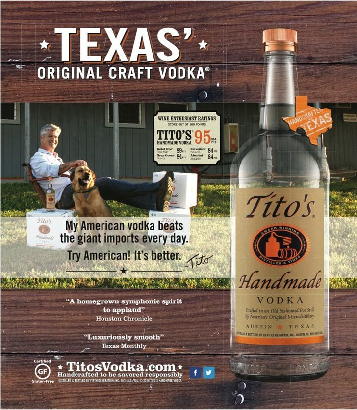 Tito's Vodka - KSM South - Do not send