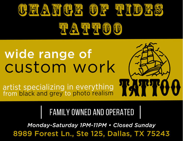 Change of Tides Tattoos