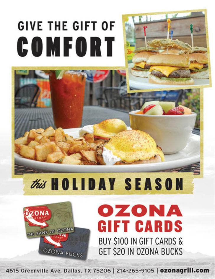 Ozona Grill - Bill @ $945 only send 1/4