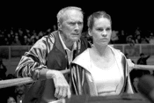 Clint Eastwood and Hilary Swank go beyond fight-movie clichés in Million Dollar Baby.
