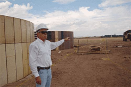 Jeff See of White Energy oversees construction in  Hereford of what might be Texas' first ethanol plant
