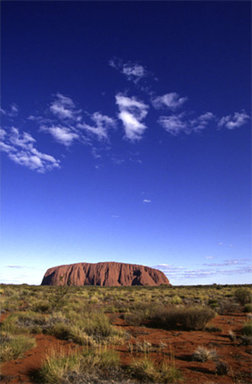 "Nowitzki visited Uluru�also known as Ayers Rock�while on ""walkabout"" in Australia."