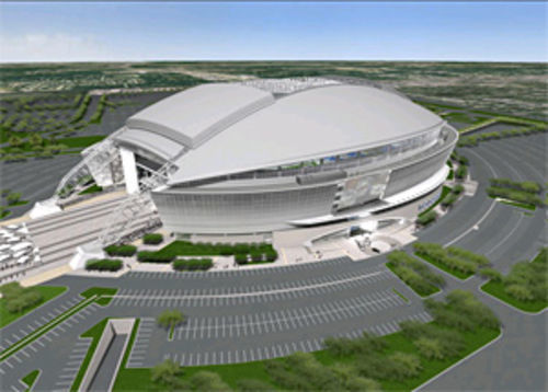 The Cowboys' $1 billion stadium opens in 2009.