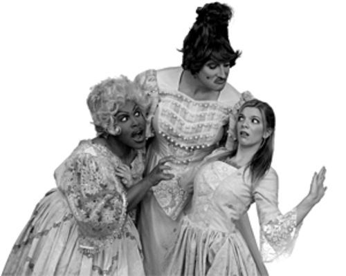 Cinderella (Laura Stephenson) and two ugly dudes...er, stepsisters (Malcolm Beaty, left, and Bryan Witkowicz)