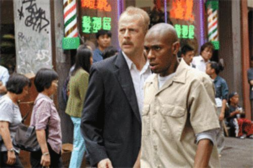 Clint and Sondra redux: Bruce Willis and Mos Def dodge bad cops in 16 Blocks.