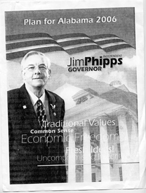 Phipps was in the midst of an Alabama gubernatorial campaign when he was surrounded and cuffed by armed federal agents.