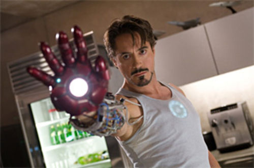 Robert Downey Jr. as Iron Man in a movie directed by Jon Favreau—seriously, how frickin' cool is that?