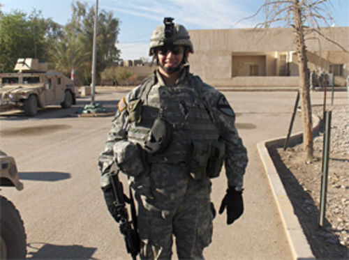 Jonathan Markham, while deployed in Baghdad in 2006 with Fort Hood's 1st Calvary Division