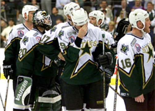 One of five memorable Reunion moments: Stars lose to the New Jersey Devils 2-1 in the second overtime of Game 6 of the Stanley Cup championship on June 10, 2000.