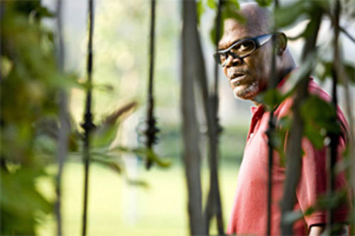Samuel L. Jackson peers through a suburban jungle in more ways than one in Lakeview Terrace.