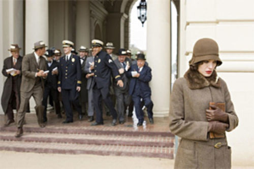 Even under a cloche hat, Angelina Jolie—and those lips—smolder.