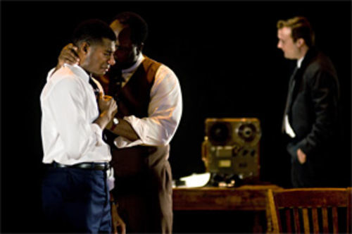 Billy Eugene Jones and J. Bernard Calloway are civil rights leaders, and Steven Walters (right) is the FBI agent setting them up for scandal in The Good Negro.