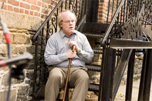 Time is not on his side:Philip Seymour Hoffman fades to white.