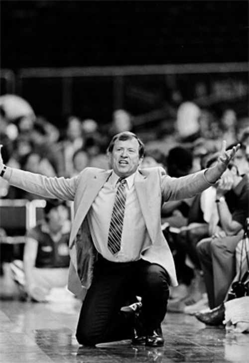 Former Mavs coach Dick Motta led his team to its first NBA Playoff series win, clinched by a wild finale against the Seattle Supersonics on April 26, 1984, in Moody Coliseum.