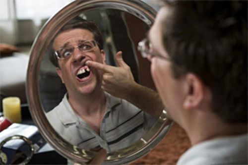 Yeah, that's a good look for a dentist—Ed Helms in The Hangover.