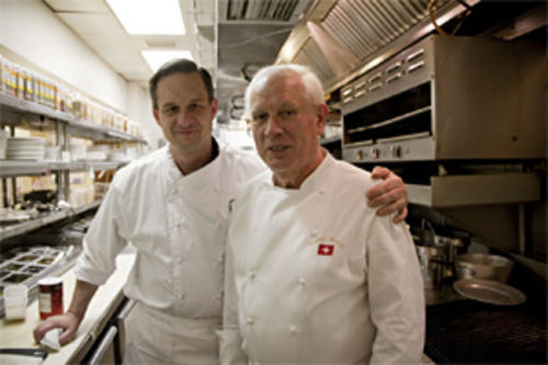 Kitchen veterans Jean-Marie Cadot (left) and Gaspar Stantic team up in a promising new kitchen.