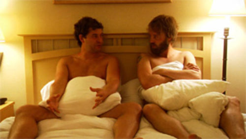 Mark Duplass and Joshua Leonard take bromance to its logical conclusion in Humpday.