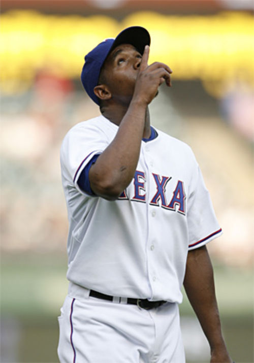 Only one thing more praiseworthy than Neftali Feliz's 101 mph fastball —his 77 mph curveball.
