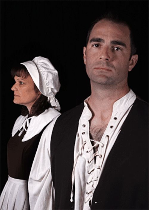Some of The Crucible's most touching and beautifully acted scenes involve Shelly Tharp-Payton and Joe Nemmers.