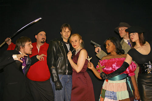 Cupids and bicuspids clash in the vampire comedy Fangs for the Memories at Pocket Sandwich Theatre.