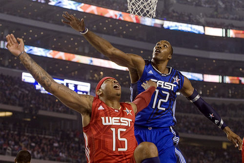 Although the East barely beat the West in the NBA All-Star Game at Cowboys Stadium, both sides partied like they had won big.