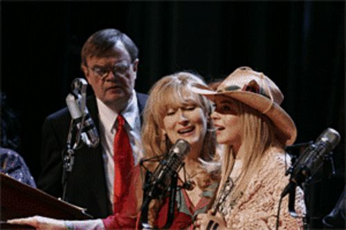 Doing what needs to be done: Garrison Keillor, Meryl Streep and Lindsay Lohan.
