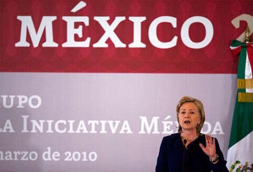 U.S. Secretary of State Hillary Clinton traveled to Mexico City in late March to meet with Mexican leaders and reformulate a U.S. sponsored anti-drug plan by redirecting $331 million to social and educational programs, away from military spending.