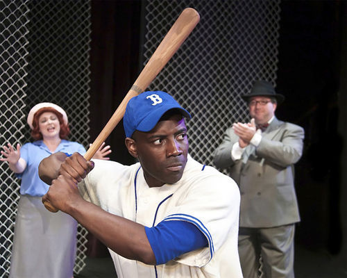 "Ricky Spivey plays Jackie Robinson in a biographical drama that has an ""educational theater"" tone, which might not be good if it weren't geared to children."