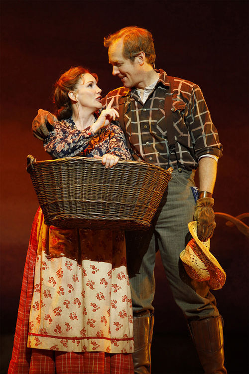 Prairie home companions: Melissa Gilbert as Ma and Steve Blanchard as Pa in Little House on the Prairie.