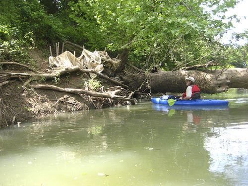One of very few signs of human activity along the Elm Fork below Lake Ray Roberts.