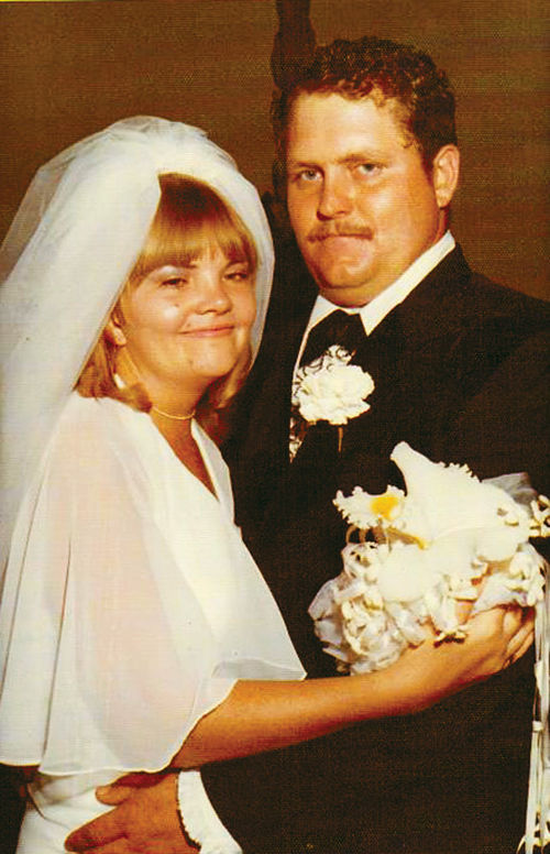 Rob and Sue Krentz at their wedding in July 1977 in Douglas.
