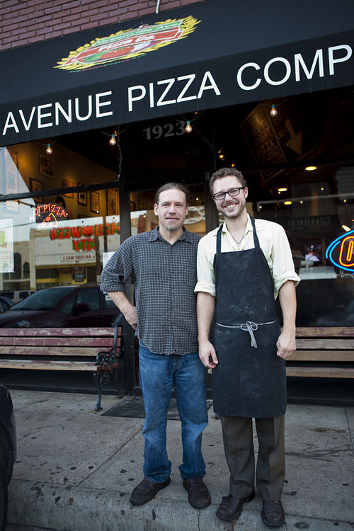 "Brothers Chris Cook (left) and Sammy Mandell opened Greenville Avenue Pizza Company in 2007 because, as Cook says, ""I wanted a place that people would be able to bring their kids."" Today, their business survives by serving the unpredictable late-night crowd."