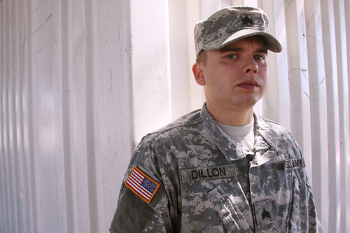 "Diagnosed with PTSD after returning last year from his second deployment to Iraq, Army Sergeant Aaron Dillon is now mentoring the veterans court's most troubled case: 22-year-old Eric Marquez, who's failed three drug tests. ""I think he needs a lot of guidance and a lot of help,"" Dillon says."