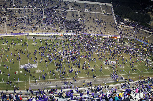 After TCU's home game win over San Diego State left the Horned Frogs undefeated for the season, fans poured onto the field from every direction. Now, with TCU changing conferences, they will have to head East.