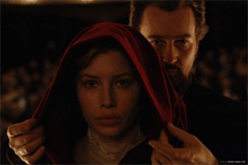 Edward Norton does the voodoo that he does so well on Jessica Biel.