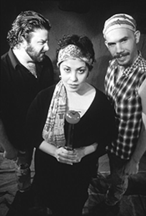 From left: Jeremy Schwartz, Christina Vela, and Dalton James travel a long road to forgiveness in Undermain's world-premiere production.