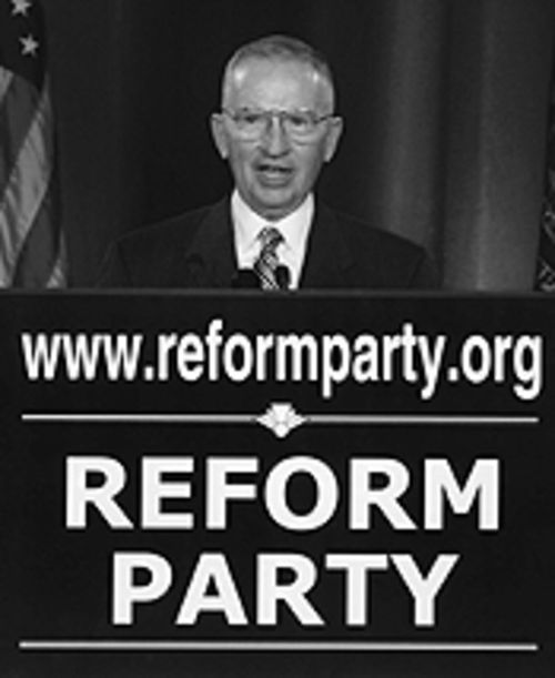 Perot spoke at the Reform Party convention in Minnesota , but his influence had clearly dwindled among those who had once considered him their political savior.