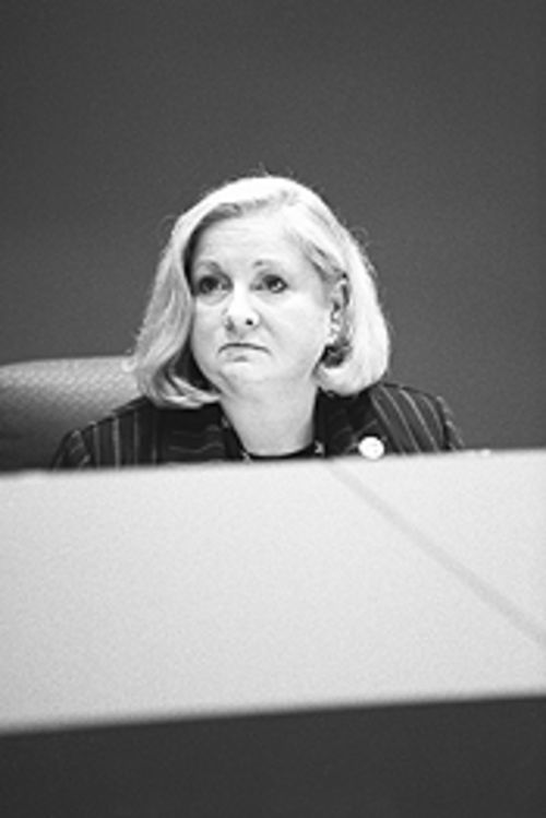 "Mayor Pro Tem Mary Poss was willing to settle for a budget that was ""less than pure."""