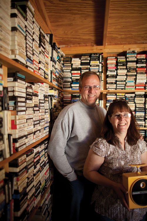 """This is just the tip of the iceberg that is our collection,"" says Arlington's Dan Gibson, who has helped turn his wife Kathy's business into an entity that can service pretty much any demand from the eight-track collector crowd."