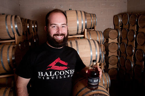 "Balcones founder Chip Tate, highly regarded in the whiskey industry for creativity, doesn't do bourbon. ""We're trying to do something that will appeal to the traditional spirits drinker, but also be different. It's like the color purple,"" he says."