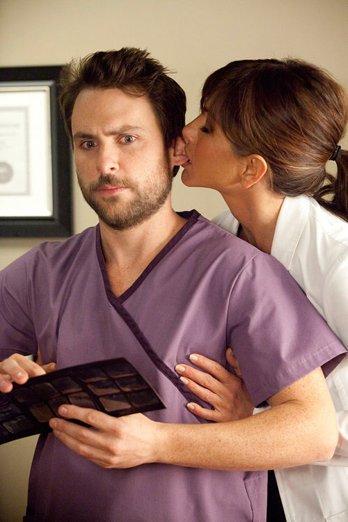 Charlie Day and Jennifer Aniston in Horrible Bosses: Oh, that poor, poor man.