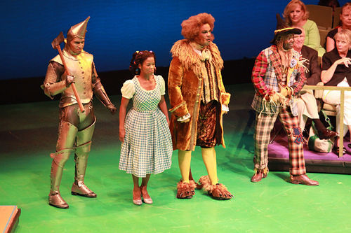 Sydney James Harcourt, Trisha Jeffrey, David Ryan Smith, James T. Lane ease on down the road to Oz in DTC's The Wiz.