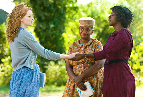 Emma Stone, Octavia Spencer and Viola Davis lend one another helping hands.