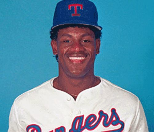 Sammy Sosa was 20 when he smacked his first MLB home run for the Texas Rangers.