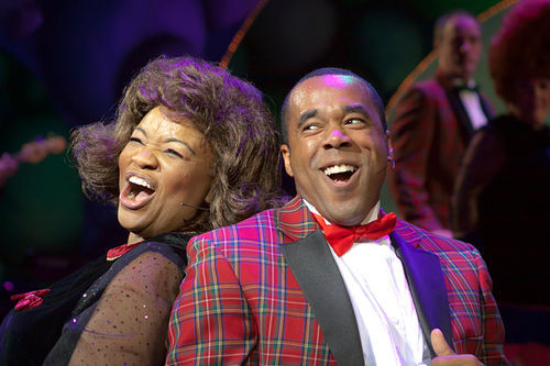 Denise Lee and Markus Lloyd sing two hours of back-to-back vintage jukebox tunes in WaterTower's Rockin' Christmas Party.