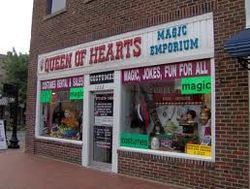 Queen of Hearts Costume and Magic Shop