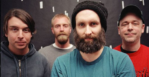 Built to Spill with Martsch (center)