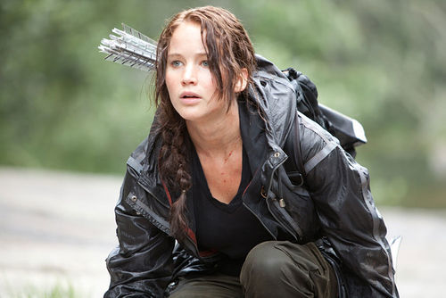 Jennifer Lawrence runs for her life.