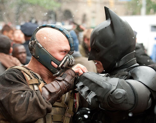 It's Batman versus Bane in the third leg of Christopher Nolan's Dark Knight trilogy.